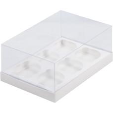 Короб на 6 капкейков Премиум (Белый)