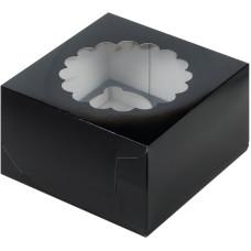 Короб на 4 капкейка (Чёрный)