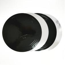 Подложка 1,5 мм D=280 чёрная/серебро