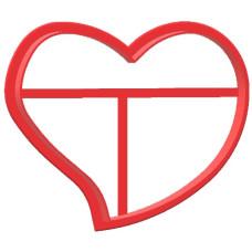 Вырубка №31 Сердце изогнутое