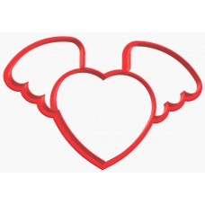 Вырубка №50 Сердце с крыльями