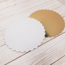 Подложка фигурная 1,5 мм Золото/белая