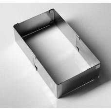 """Форма для выпечки с регулировкой размера """"Прямоугольная"""", 10*15-18*28, H=8,5 см"""