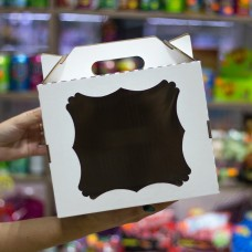 Короб для тортов с окном и с ручкой 24*24*20 см