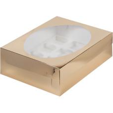 Короб на 12 капкейков (Золото)