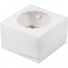 Короб на 4 капкейка (Белая)