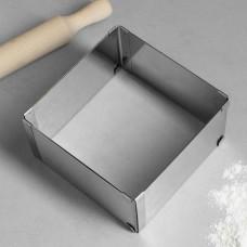 "Форма для выпечки с регулировкой размера ""КВАДРАТ"", 16х16 - 28х28 см, H-8,5 см,"