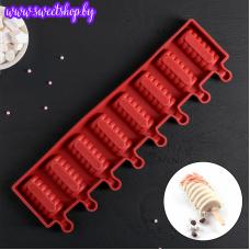 Форма для леденцов и мороженого «Эскимо Моника», 8 ячеек
