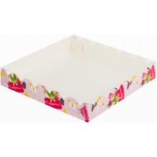 Коробка для печенья и пряников 20*20*3,5 см (с праздником)