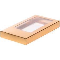 Коробка для шоколадной плитки 16*8*1,7 см (золото)