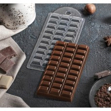 "Форма для шоколада ""Шоколад тёмный"" (плитка)"